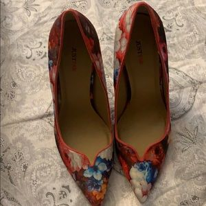 Just fab floral high heels